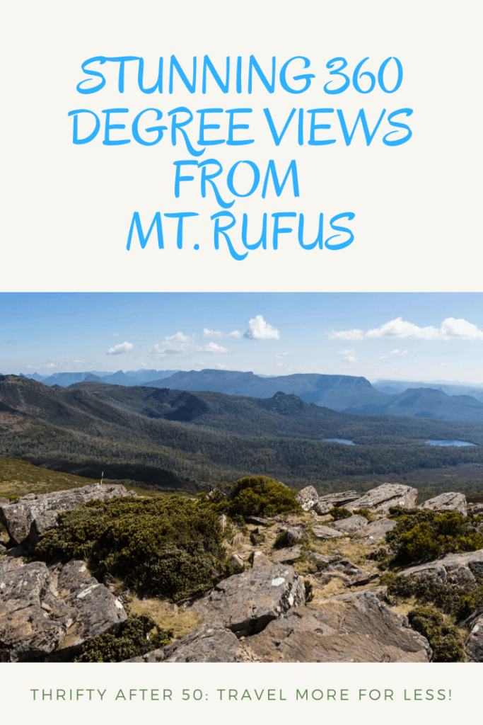 Stunning 360 degree views from Mt Rufus Tasmania