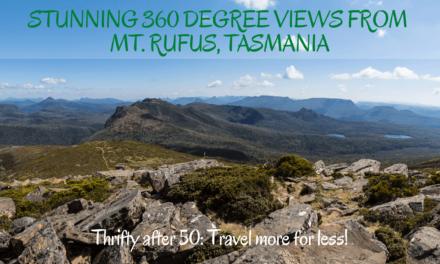 Stunning 360 degree views from Mt Rufus, Tasmania