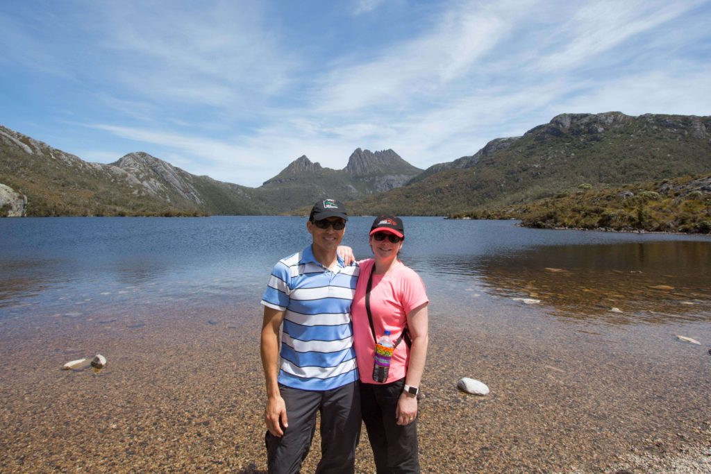 Stunning views of Dove Lake and Cradle Mountain.