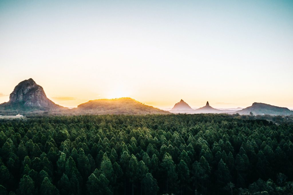 Tips on where to go for the best Glass House Mountains photos.